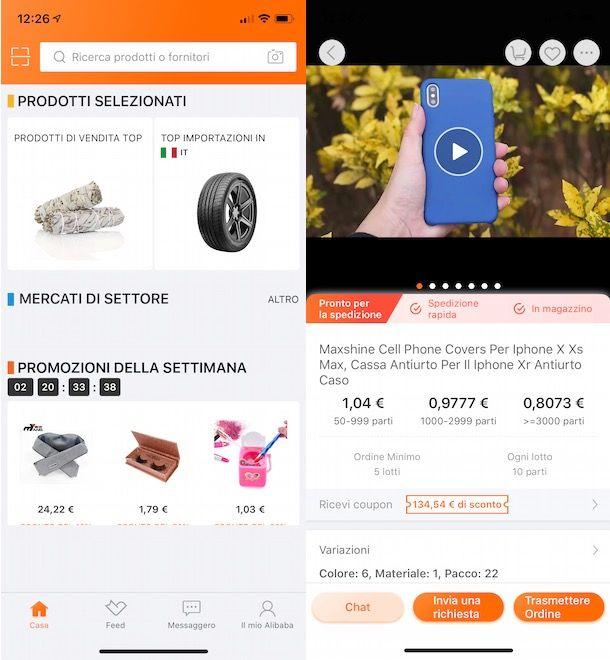 Acquistare su Alibaba da smartphone e tablet