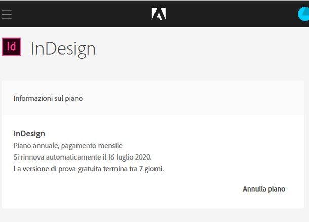 Come disattivare la licenza di Adobe InDesign
