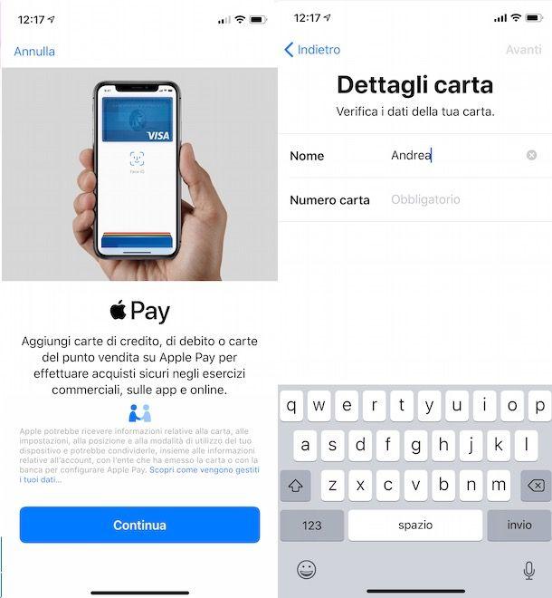 Pagare con il telefono con ApplePay