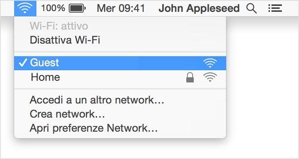 Come connettersi a una rete Wi-Fi pubblica - macOS