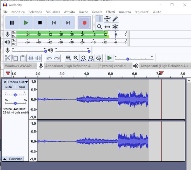 Come registrare con Audacity da Internet