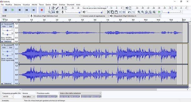 Come registrare una canzone con Audacity