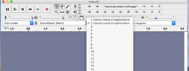 Come registrare multitraccia con Audacity