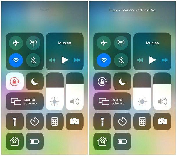 Come ruotare lo schermo dell'iPhone