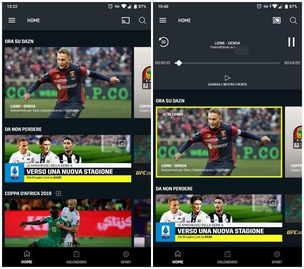 Come guardare DAZN con Chromecast