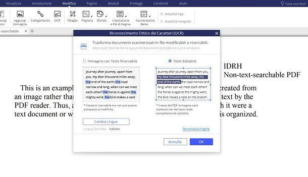 copiare testo da un PDF con PDFElement