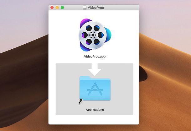 Installazione VideoProc su Mac