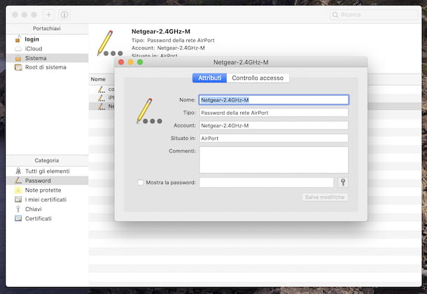 Password Wi-Fi macOS