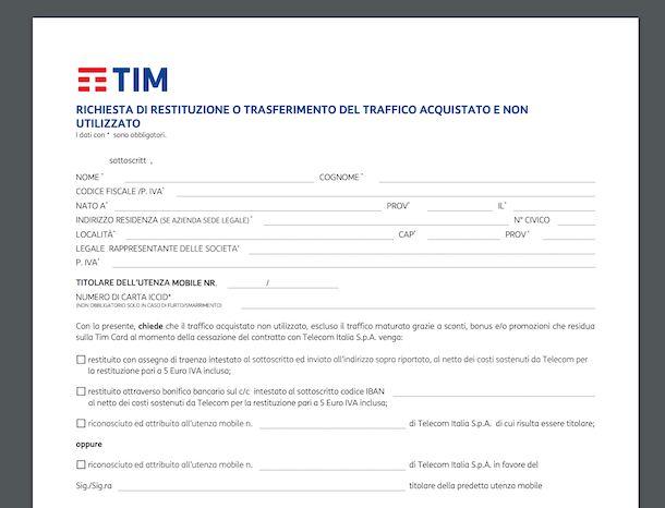 Richiesta di blocco e sblocco IMEI per apparati rubati o smarriti TIM