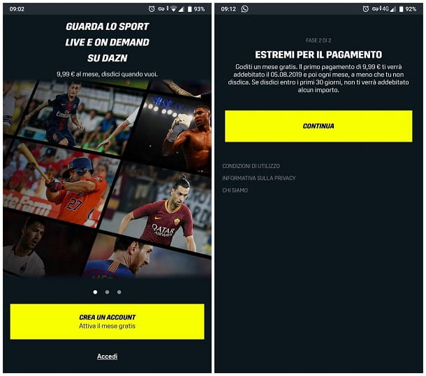 Come vedere DAZN gratis su Android