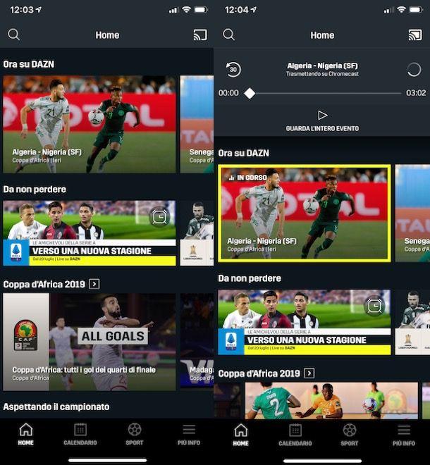 Vedere DAZN in TV tramite Chromecast