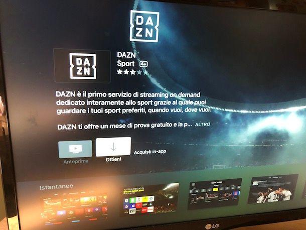 Come vedere DAZN in TV con Apple TV