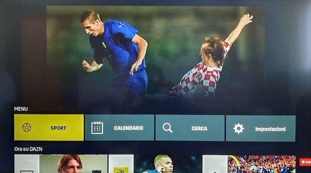 Come vedere DAZN in TV su console