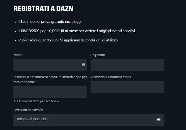 Come attivare DAZN gratis