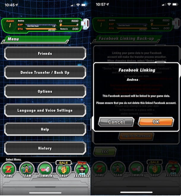 Account Facebook Dokkan Battle