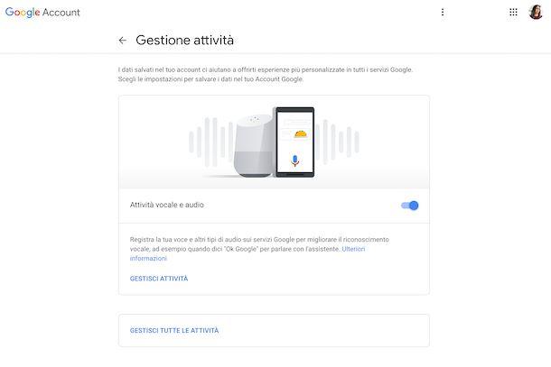 Cronologia ricerche vocali Google