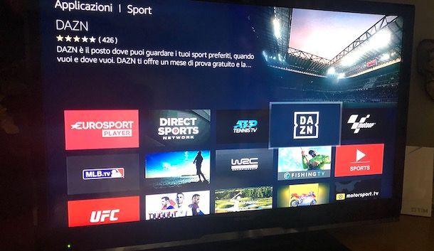 Come vedere DAZN in TV con Fire TV Stick
