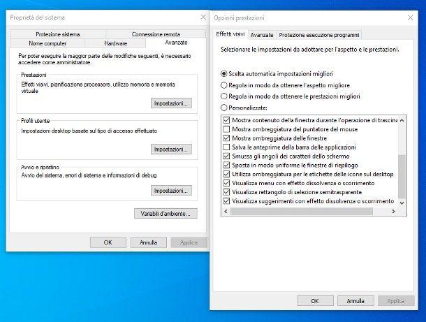 Come togliere ombreggiatura dalle icone del desktop di Windows 10