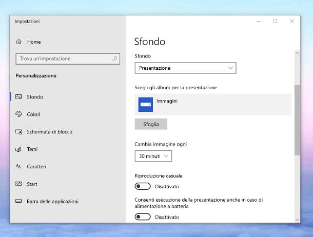 Come cambiare lo sfondo del PC Windows 10