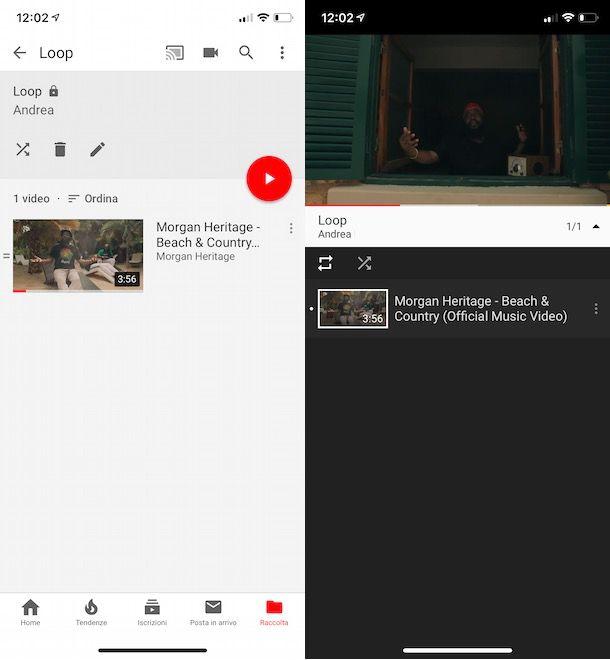 Loop video YouTube