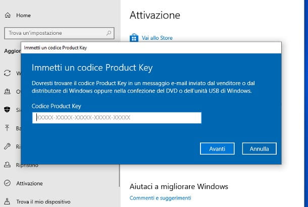 Aggiornare Windows 10 Home a Pro