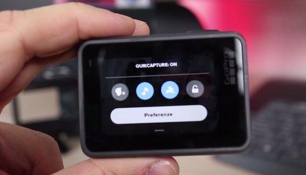 Attivare QuickCapture su GoPro