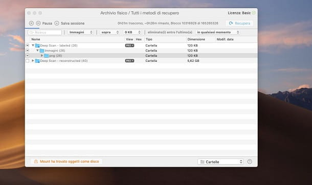 recuperare screenshot con Disk Drill