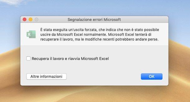 Come recuperare un file Excel non salvato su Mac