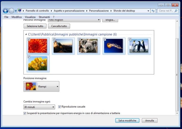 Come cambiare lo sfondo del PC su Windows 7