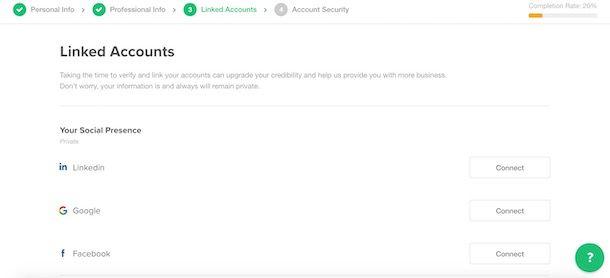 Creare profilo su Fiver