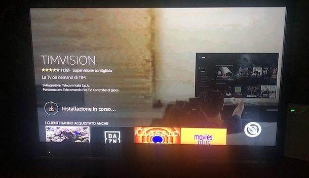 Installazione TIMvision su Fire TV Stick