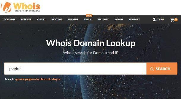 Come trovare l'intestatario di un sito Web tramite servizi online