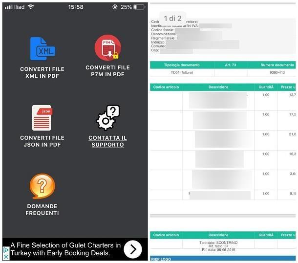 Come aprire file XML fattura elettronica iPhone