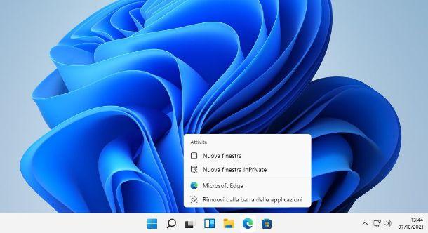 Rimuovere icona barra applicazioni Windows 11