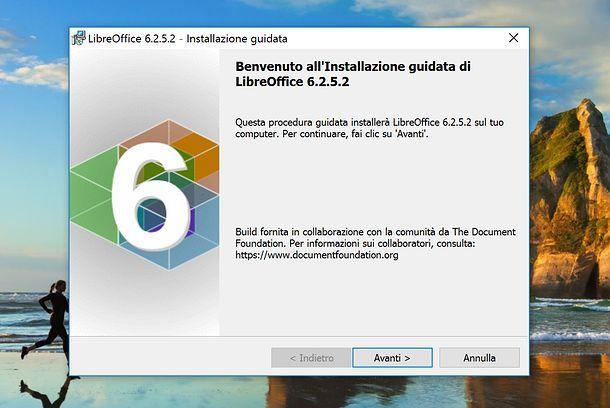 Installazione LibreOffice Windows