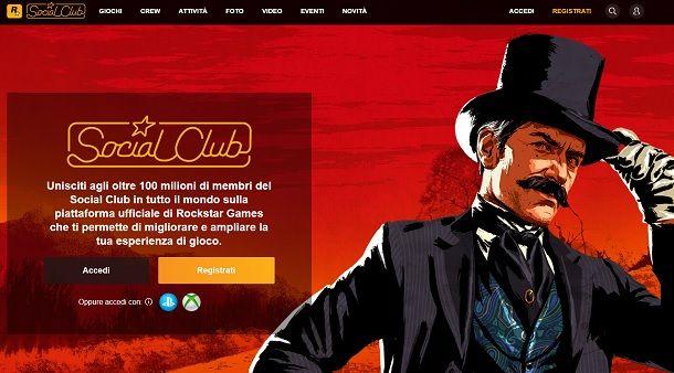 Accedi Social Club GTA Online
