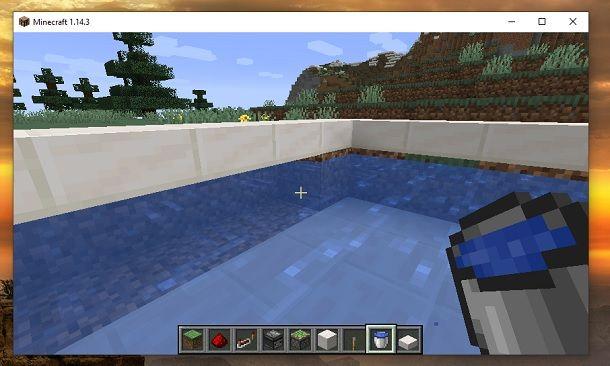 Amplia piscina Minecraft