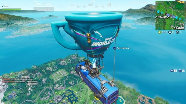 Bus volante Fortnite PS4