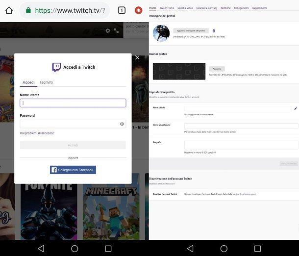 Come cambiare immagine Twitch da smartphone