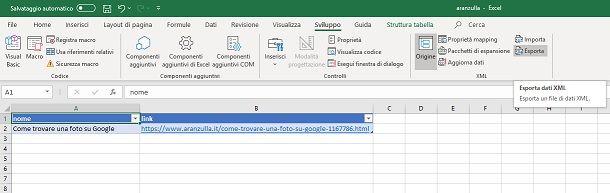 Come creare un file XML con Excel