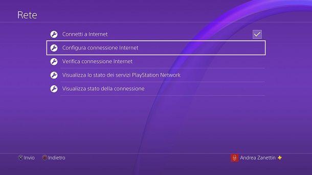 Configura Internet PS4