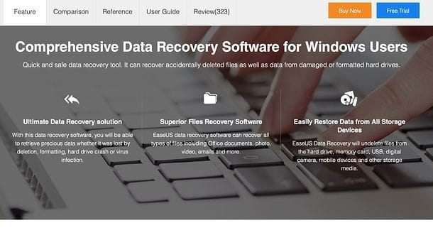Sito EaseUS Data Recovery Wizard