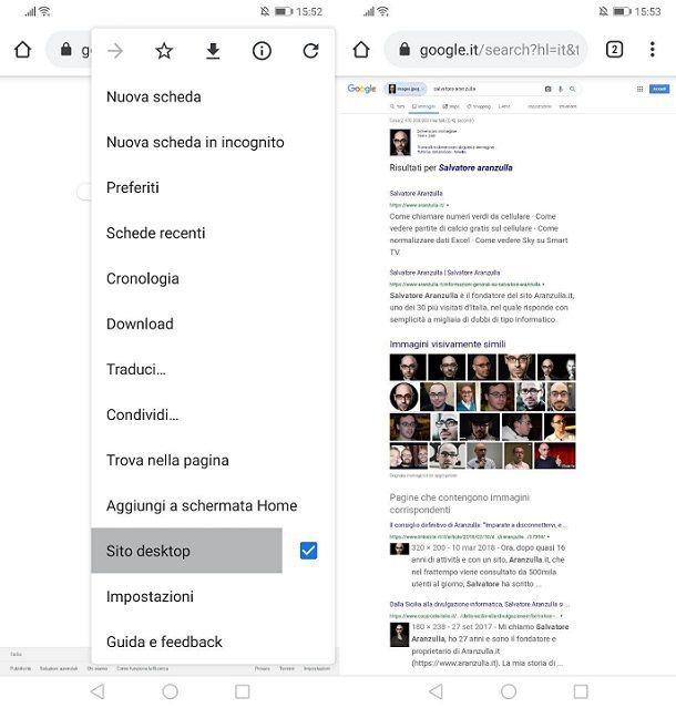 Google Immagini ricerca inversa cellulare