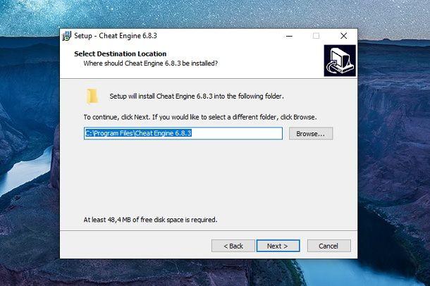 Installazione Cheat Engine Windows