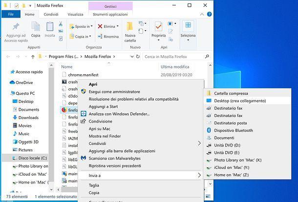 Aggiunta icona di Firefox al desktop