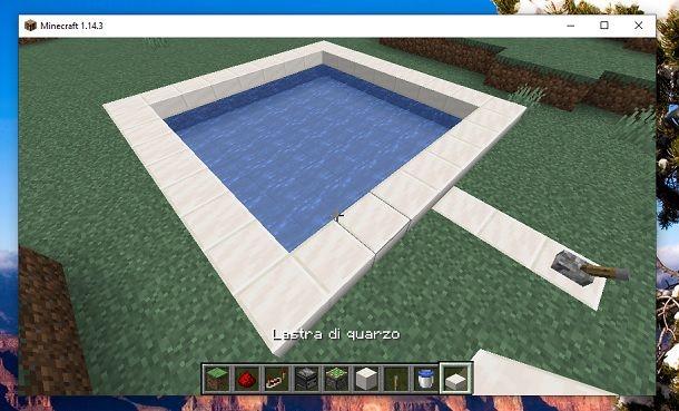 Lastra di quarzo Minecraft