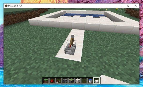 Piscina automatica Minecraft