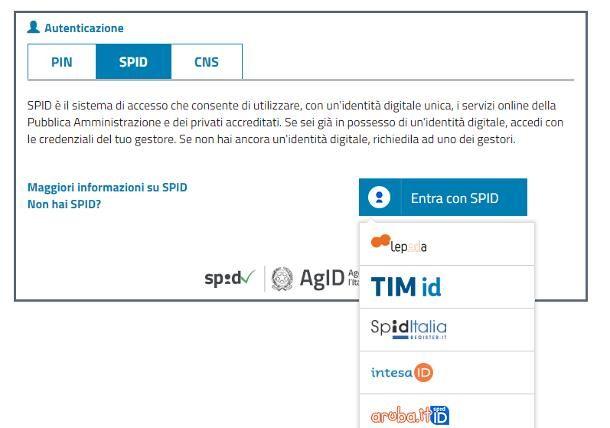 Accedere al sito INPS con SPID