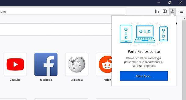 Firefox Sync su PC