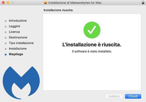 Installazione Malwarebytes Anti-malware su macOS